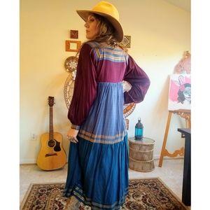 80s Indian Bohemian maxi dress